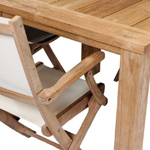 TNT Folding Table and Chairs close up