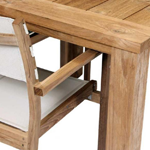 TNT Square Table and Stacking Chairs close up