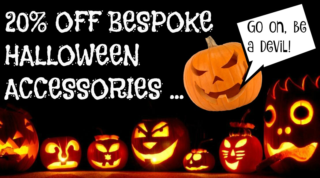 20 percent off bespoke halloween acessories