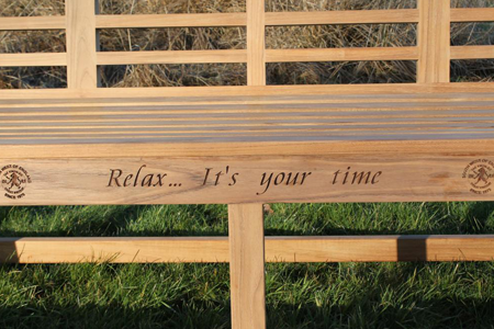 Relax it's your time engraving