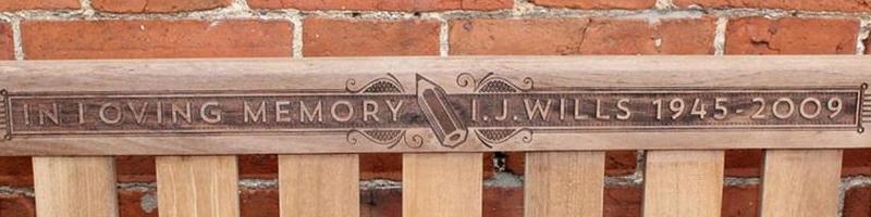 Bench Engraving Portfolio