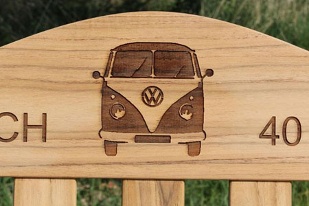 VW Camper Bench Engraving