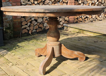 York Round Table with unique pedestal leg