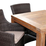 Close up of the York 4 Chair Square Table Set