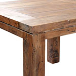 Close up of the York 1 metre Square Table