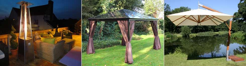 Patio Heaters, Gazebos and Parasols