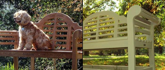 Lutyens Benches painted and not painted