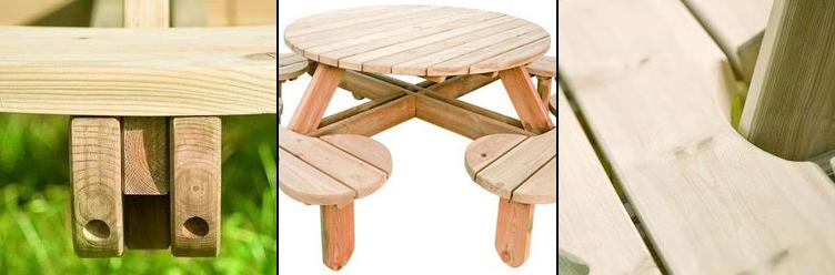 Round picnic tables robust construction on orbit picnic tables watchthetrailerfo