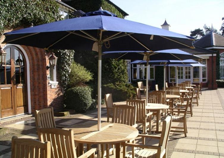 Garden Parasols at The Belfry