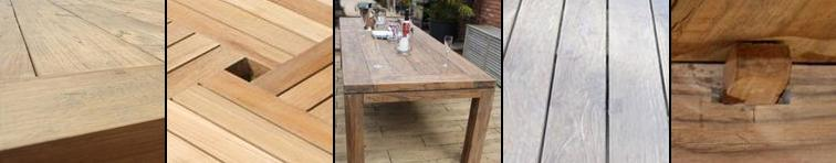 A stunning finish on our Teak Tables