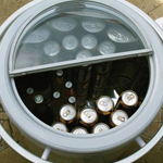 Split Lid on the Lifestyle Outdoor Fridge