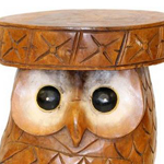 Painted eyes on the Owl Table