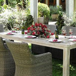 Seville Dining Table looks great when ready for guests