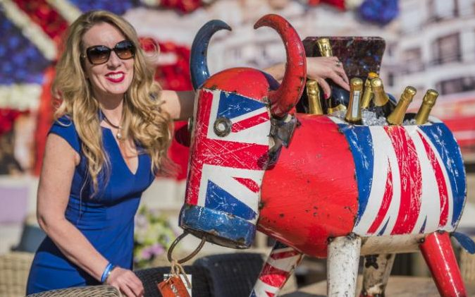 Debs and Alfie at RHS Chelsea Flower Show 2016