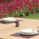 Square Table Set looks great in any outdoor setting