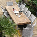 Outdoor Rattan Armchairs from Kingdom Teak