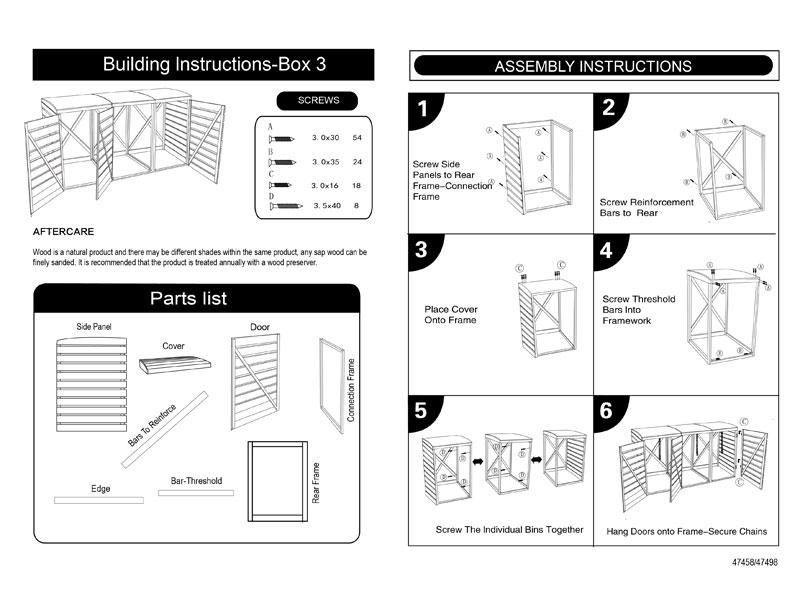 wheelie bin cover instructions